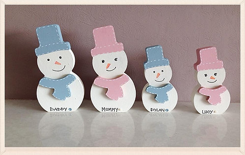Personalised Snowman Family