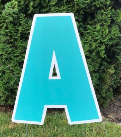 Bright Blue Letters