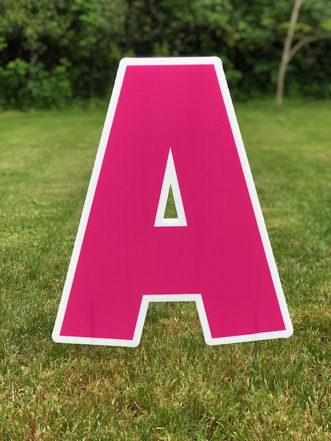 Bright Pink Letters