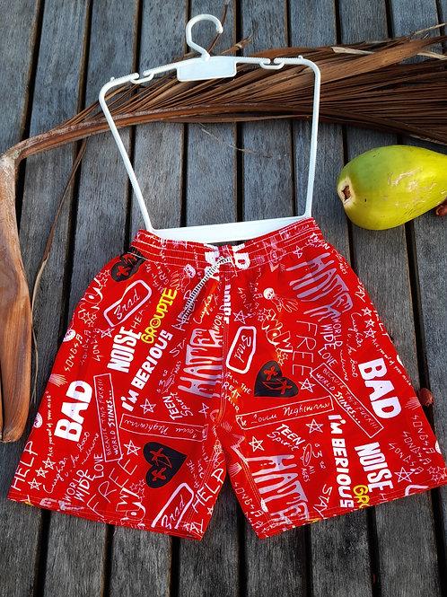 Shorts da Praia Vermelha Masculino - Paixão no. 52