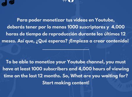Requisitos para poder monetizar en Youtube