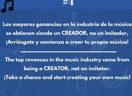 El dinero de verdad en la música está en ser un creador.