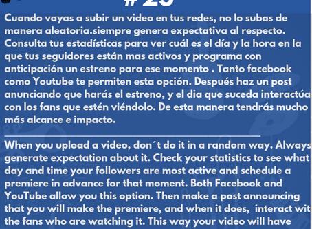 Estrenos programados : La mejor manera de publicar tus videos