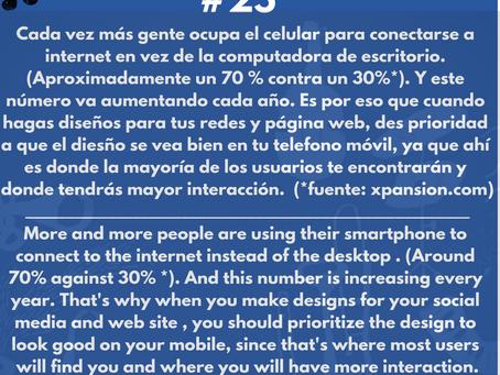 Music business Hacktip #25. Diseña primero para el móvil.