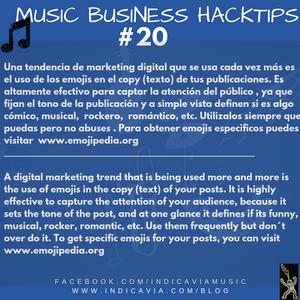MUSIC BUSINESS HACKTIP 20