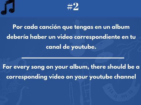 MUSIC BUSINESS HACKTIP #2. Ten un Video en youtube para cada canción en tu álbum o sencillo.