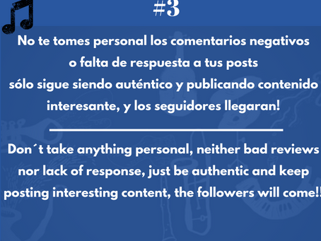 Music Business hacktip #3. No te tomes nada personal