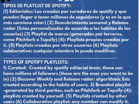 Tipos de Playlist de Spotify