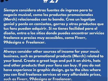 """Una importante fuente de ingresos para los músicos independientes: La """"Merch"""""""