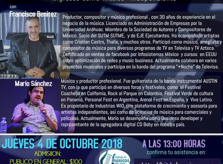 Conferencia- Cómo vivir de la música: Nuevas estrategias para músicos independientes