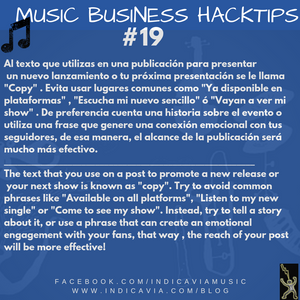 MUSIC BUSINESS HACKTIP 19