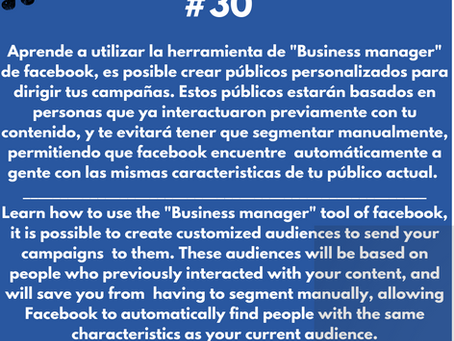 La herramienta de facebook business manager, una de las mejores para crecer.