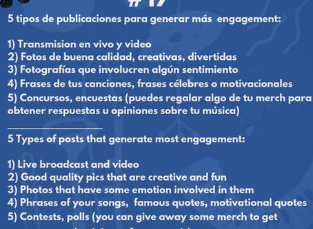 5 tipos de publicaciones para generar más engagement