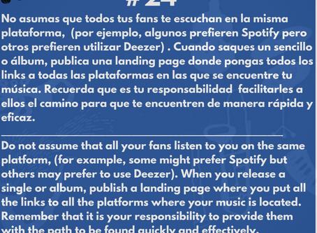 Haz el camino fácil a tus fans para encontrarte en todas las plataformas