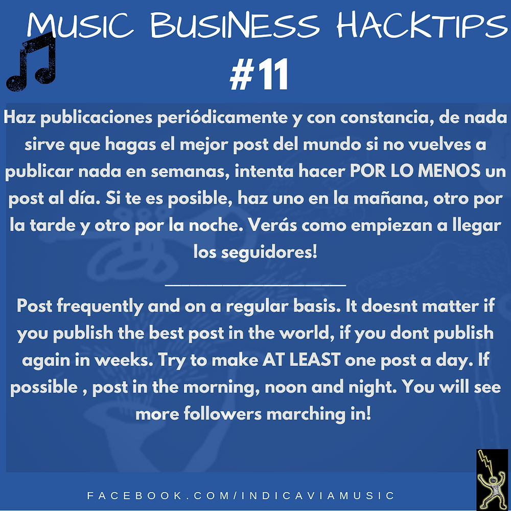 Music business Hacktip #11