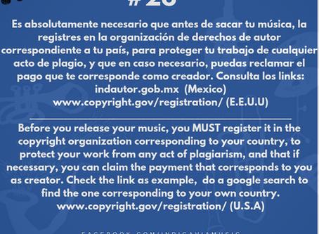 Registrar tu música en derechos de autor es una obligación