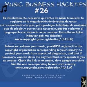 Es tu obligación registrar tu musica en derechos de autor