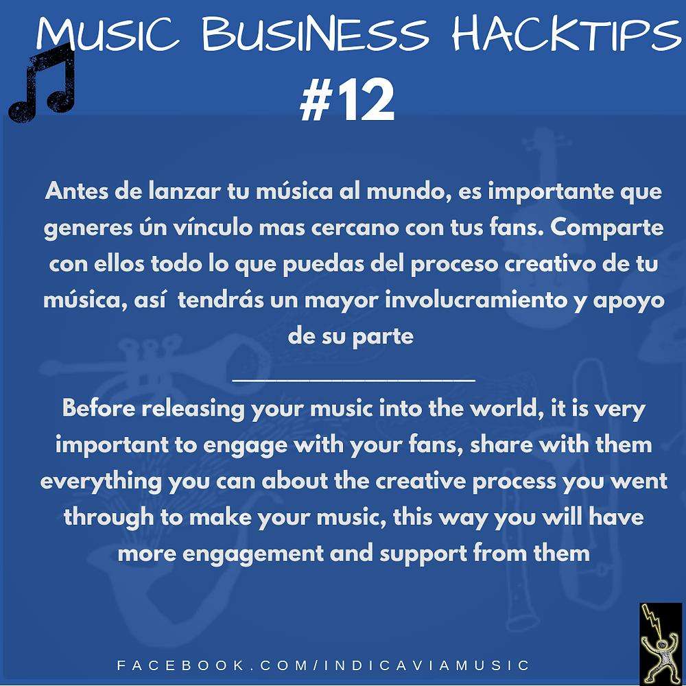 Involucra a tus fans en el proceso creativo antes de lanzar tu música