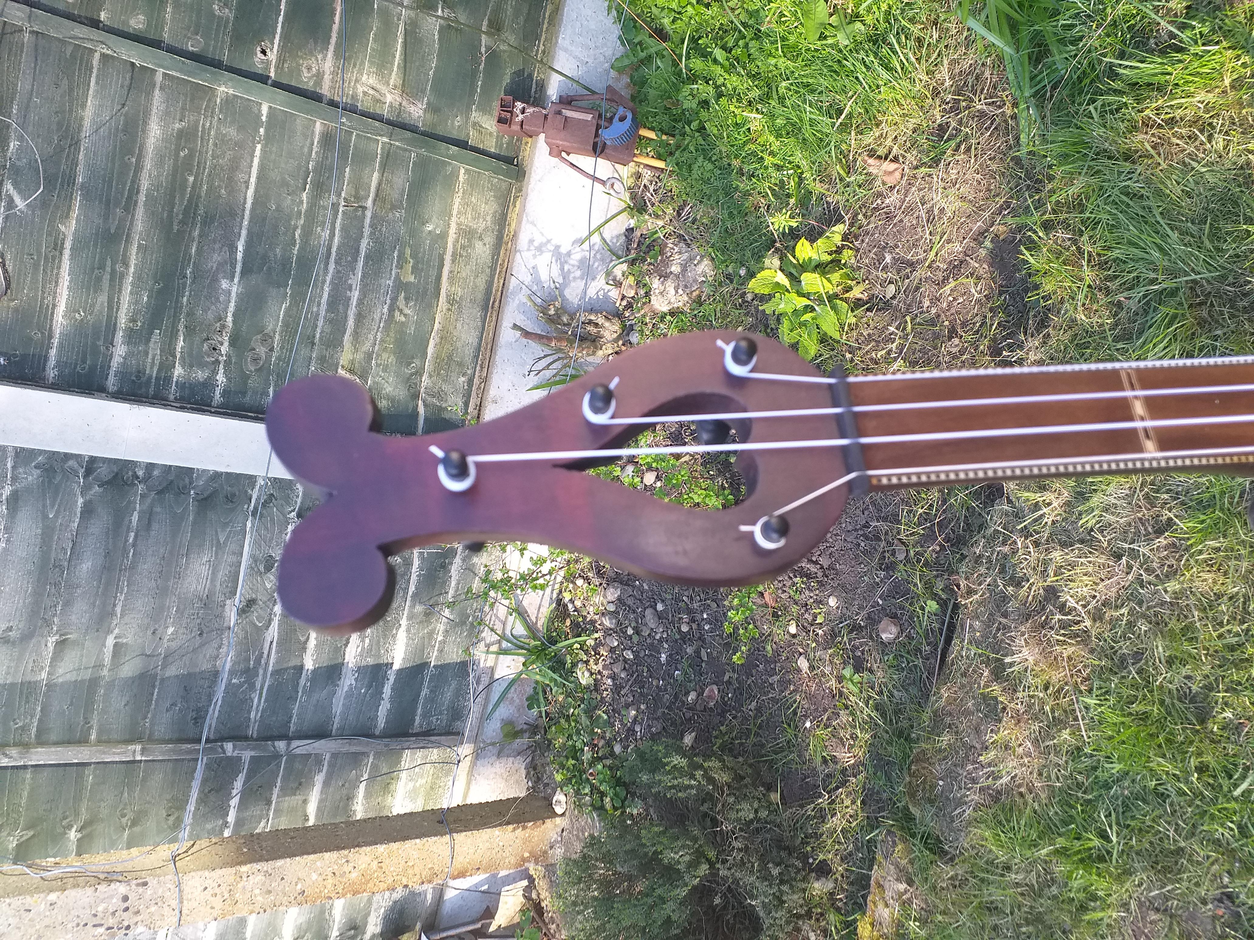 minstrel banjo lyre peghead