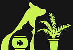 dog cat plant fish logo
