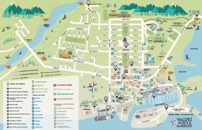 Valdez Area Map for Cruise Passengers
