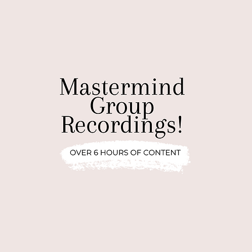 Mastermind Group Recordings