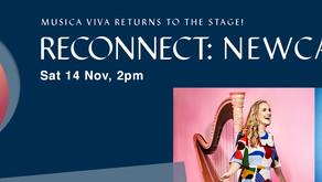 Sally Walker and Emily Granger, Musica Viva, Newcastle, Saturday 14th November 2 pm