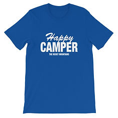 Happy Camper - T-Shirt (Multi Colors) The Rocky Mountains Canadian American Rockies