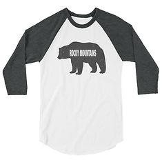 Rocky Mountain Bear - 3:4 sleeve raglan