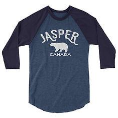 Jasper Bear Alberta Canada - 3/4 sleeve raglan shirt (Multi Colors) The Rockies Canadian Rocky Mountains