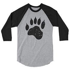 Bear Paw - 3:4 sleeve raglan shirt (Multi colors)