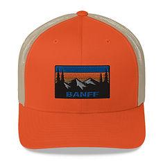 Banff Alberta Canada - Trucker Cap (Multi Colors) Canadian Rocky Mountains