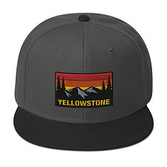 Yellowstone Wyoming Montana Idaho - Snapback Hat (Multi Colors) The Rockies American Rocky Mountains