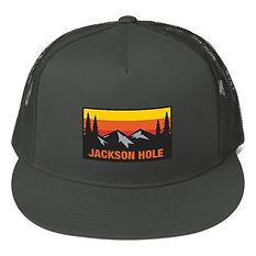 Jackson Hole Wyoming - Mesh Back Snapback - The Rockies American Rocky Mountains