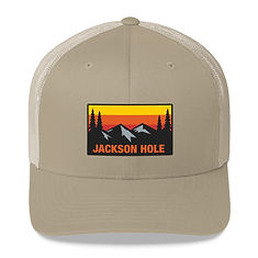 Jackson Hole Wyoming - Trucker Cap (Multi Colors) The Rockies American Rocky Mountains
