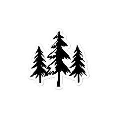 Pine Tree - Vinyl Bubble-free stickers