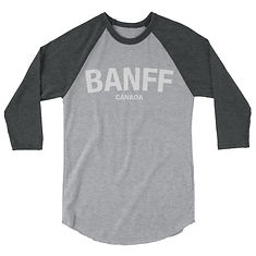 Banff Alberta Canada - 3/4 sleeve raglan shirt (Multi Colors) The Rockies Canadian Rocky Mountains