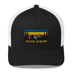 Golden British Columbia - Trucker Cap (Multi Colors) The Rocky Mountains Canadian Rockies
