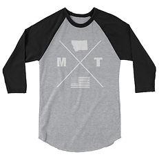 Montana Lifestyle - 3/4 sleeve raglan shirt (Multi Colors) The Rockies American Rocky Mountains