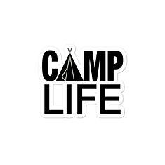 Camp Life - Vinyl Bubble-free stickers (