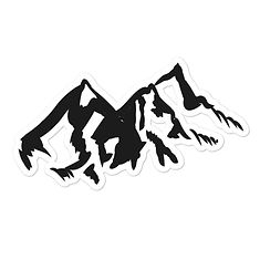 Mountain Range - Vinyl Bubble-free stickers