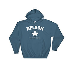 Nelson British Columbia Canada - Hooded Sweatshirt (Multi Colors) The Rockies Canadian Rocky Mountains