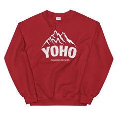 Yoho British Columbia Canada - Sweatshirt (Multi Colors) The Rockies Canadian Rocky Mountains