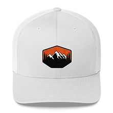 Sunset Mountains & Pines - Trucker Cap (Multi Colors)The Rocky Mountains Canadian American Rockies