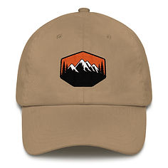 Sunset Mountains & Pine - Baseball / Dad hat (Multi Colors) The Rocky Mountains Canadian American Rockies
