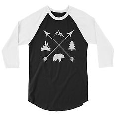 The Rockies Lifestyle - 3/4 sleeve raglan shirt (Multi Colors)