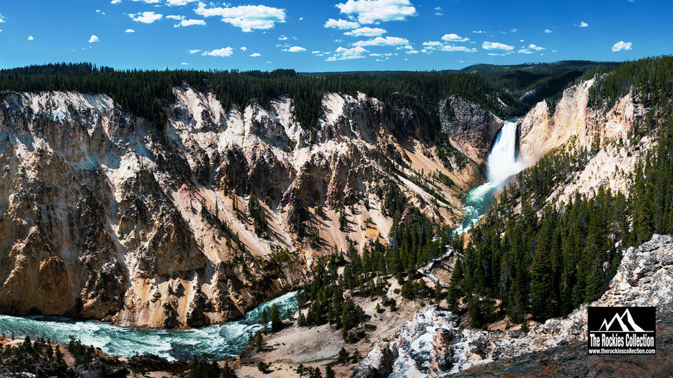 UPPER/LOWER FALLS - YELLOWSTONE US ROCKIES