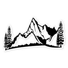 Mountain & Pines - Vinyl Bubble-free stickers