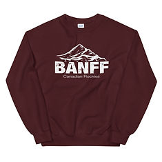 Banff Mountain Alberta Canada - Sweatshirt (Multi Colors) The Rockies Canadian Rocky Mountains
