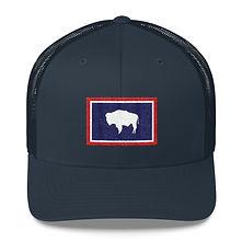 Wyoming Flag -Trucker Cap (Multi Colors)